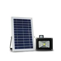 N500H 6 V * 6 W Painel Solar 1000LM 10 W Sensor de Movimento Solar LED Projector de Poupança de Energia Ambiental Ao Ar Livre Holofotes Lâmpada de Luz