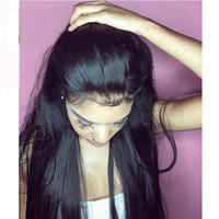 Glueless Шелковый Топ Шелковистые Прямые Человеческие Волосы Парики Для Чернокожей Женщины 4 * 4 Шелковая База Полный Парики Шнурка С Волосами Младенца Длинные Кружева Передние Прямые Парики