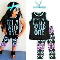 Girls Fashion Clothing Sets Letters Geometric Figure Print C...