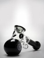 Мини-бонг молоток стеклянные трубы настенные стекла дизайн handly барботер курительная трубка для сухой травы кальяны трубы белый черный зеленый