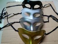 Unisex Masquerade Венецианская маска Mardi Gras Party Mask Costume Украшения ассорти цвета (золотой серебристый черный белый) один размер