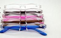 (20 pçs / lote) unissex leitura transparente óculos leitores de plástico cores misturadas poder de força de +1.00 a +4.00
