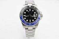 U1 공장 프로모션 고품질 남성 시계 116710 배트맨 세라믹 회전 베젤 원래 손 버클 자동 기계식 시계