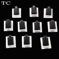 atacado Stand Jóias Tc plástico Páscoa 15pcs / lot Preto Limpar Anel de jóias de exibição Clipe Showcase Stand Holder 1.3x1 polegadas