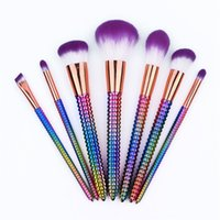 HOT Makeup Brushes 7 PCS Professional Colorful Corn Shape Ma...