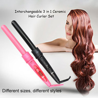 Interchangeable 3 in 1 Hair Curler Set Pro Hair Curling Iron...