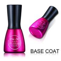 Großhandels-Beau Gel Top Coat und Base Coat 7ML Langlebiges tränken weg Lack Maniküre Nagel Foundation Gel Lak für UV Nail Art Design