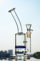 Solid Base Glass bubbler glass bongs with honeycomb percolat...