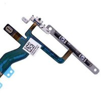 100% original para iPhone 5 5G 5S 5C 6 Plus Botón de encendido, cambio Sleep Wake, Volume Mute Button Flex Cable Metal Soportes Envío gratuito