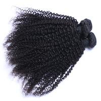 حار بيع البرازيلي الشعر الماليزي البرازيلي الهندي بيرو غريب مجعد الشعر التمديد غير المجهزة الإنسان عذراء الشعر نسج يمكن مصبوغ أومبير