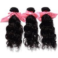 """4 pçs / lote 12 """"-26"""" trama do cabelo da onda natural, cabelo virgem malaio na cor natural pode ser tingido de alta qualidade extensões de cabelo"""