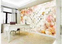 الأزياء 3D ديكور المنزل جميل الخيال الزهور 3D TV ستيريو خلفية جدار السور 3 د لغرفة المعيشة