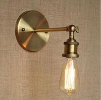 Brass Nordic Rustic Retro LED Wall Lights Fixtures Loft Styl...