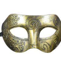 Retro Roman Gladiator dos homens do Dia das Bruxas Festas Máscaras Masquerade Partido de Luxo Fancy Dress Costumes