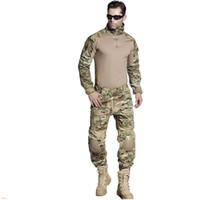 EMERSONGEAR BDU Airsoft Entraînement Tactique Vêtements Combat Shirt Pantalon avec Coude Genouillères Combinaison Camouflage pour Chasse Multicam EM2725