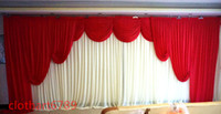 3M*6M(10ft*20ft) wedding backdrop swags Party background clo...