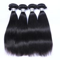 En gros 8-30 pouce de Cheveux Brésiliens Malaisiens Péruvien Indien Mongolien Vierge Extensions de Cheveux Humains 1pcs Cheveux Raides Livraison Gratuite