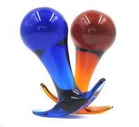 새로운 대형 자위 크리스탈 유리 dildos 항문 엉덩이 항문 장난감 남여 bdsm 섹스 토이 제품 2 색