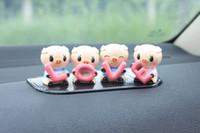 2 pçs / lote 4x porcos adesivos cabeça balanço acessórios do carro engraçado brinquedos automotivos decorações de interiores 4 porcos amor brinquedos do carro decoração de interiores