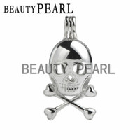 Sterling Silver Skull Pendants Wholesale sterling silver skull pendants buy cheap sterling silver bulk of 3 pieces skull charm pendant wish pearl gift 925 sterling silver opening cage pendant audiocablefo