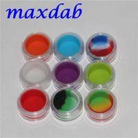 Klare Kunststoff Acryl E flüssiges Gehäuse Wachshalter Box 3ml Mini Acryl BHO Gläser Silikongläser DAB Wachs Verdampfer Ölbehälter Silikongefäß