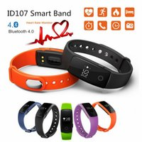New Smart Wristband ID107 Smart Band Heart Rate Monitor pulsomètre Fitness Tracker pour ios 7.0 Android 4.4 Pedometer Bracelet