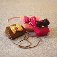 Jolies filles princesse sacs bowknot fleur paillettes enfants sacs à main designer mode bow perle enfants Messenger sac Baby Change bourse C2349