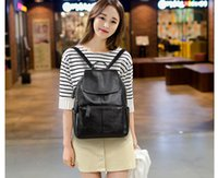 Woman Backpack Black Pu Leather Backpack Schoolbag for Girls...