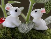 100pcs 수 지 토끼 축소 모형 홈 장식 정원 액세서리에 대 한 scrapbooking 공예 Diy