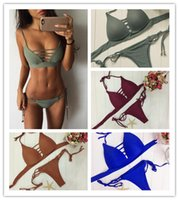 2017 new triangular mesh Sexy bikini low waist swimwear two ...
