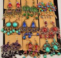 Mixed Multi styles Madam / girl vintage earrings crystal gemstone Tassels long earrings for women Sway about Hanging Earrings