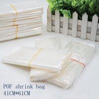 41 * 61CMPOF ختم أكياس بيضاء فيلم pof التفاف يتقلص حقيبة التعبئة والتغليف الحرارة مفتوحة مستحضرات التجميل البلاستيك أعلى التخزين بقعة 100 / حزمة OMTIS