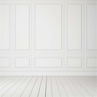 10x10ft Pure White Wood Wall Photo Background for Studio Vin...