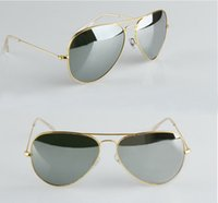 High Quality sunglasses with Box Gold Frame mirror sunglasse...