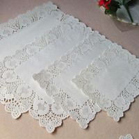 mix 4 sizes rectangle paper doilies doyleys placemat craft f...