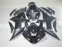 انخفاض سعر أجزاء موتو fairing kit لياماها yzf r1 02 03 أسود fairings مجموعة ماتي yzf r1 2002 2003 OI46