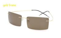 العلامة التجارية النقي التيتانيوم النظارات الشمسية الرجال النساء الاستقطاب نظارات الشمس ضوء فائقة ضوء مربع بدون شفة oculos دي سول 9 جرام TZ8615