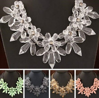 Fashion Bohemian Necklaces Gorgeous Crystal Flower Necklace ...