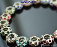 neuer Stil kann Farbe großes Loch sdfwe Spacer Rad-Korn-Kristall europäischen Korn-Armband-passenden Armband Strass losen Schmuck y2532 mische