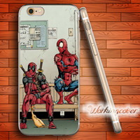 Coque Deadpool and Spiderman Soft Clear TPU Case for iPhone ...