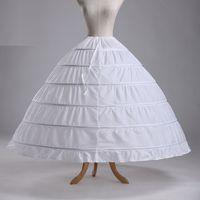 110-120cm قطر داخلية قماش قطني 6 هوب التنورة الداخلية للاكسسوارات الكرة ثوب الزفاف فساتين الزفاف ثوب نسائي