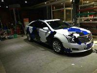 Gran Azul blanco Pixel Camo Vinilo Abrigo del coche Con burbuja de aire Gratis Ubran Camuflaje Gráficos Etiqueta del coche Tamaño de la película 1.52x10 m / 20 m / 30 m