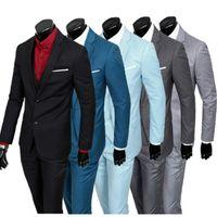 (Chaqueta + chaleco + pantalones) delgada negocio ajuste de los nuevos hombres del resorte de tres piezas / buen vestido trajes de novio masculino / hombres Blazers envío