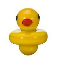Cápsula universal do tampão do carburador do vidro amarelo UFO para as tubulações de água dos bongs do vidro, plataformas petrolíferas do dab, pregos térmicos do quartzo de 4MM P