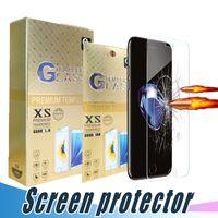 강화 유리 화면 보호기 비산 9H 2.5D 영화 아이폰 12 11 프로 최대 XR XS MAX 6 6S 7 8 플러스와 종이 상자