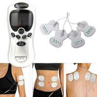 Masaje Eléctrico Fisioterapia Terapia Digital LCD Máquina Decenas Terapia Digital Masaje Corporal Completo Alivio del Dolor acupuntura Volver + 4 almohadillas