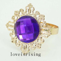 Tracking Number- - 50pcs lot Purple Colors Gem Wedding Favors ...