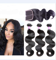 Brazilian Body Wave Hair Weaves 3Bundles with Lace Closures ...