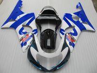 Encaixe perfeito para SUZUKI GSXR1000 K2 2000 2001 2002 kit de carenagem de plástico preto azul branco GSX-R1000 00 01 02 carenagens HV098