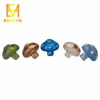 Koyu Mantar Cam Carb Cap Çapı 31mm Alt 11mm 4mm Domeless Banger Nail Düz Kase Polinay Renkli Dab Rig